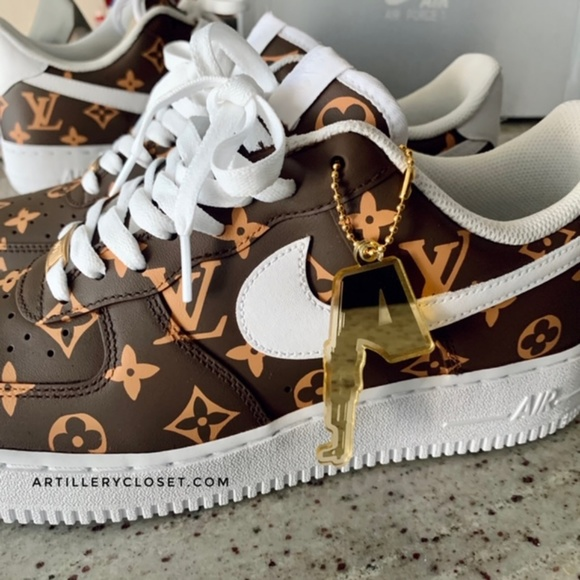 Nike Shoes Air Force 1 One Low Lv Custom Sneakers Poshmark